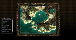 Eine Insel im Spiel Seafight