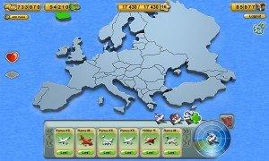 Die Karte des Aufbauspiels Skyrama